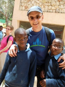Brian Orr with Haitian boys