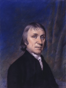 Joseph Priestley in 1794. Portrait by Ellen Sharples. Click on image for a larger view.
