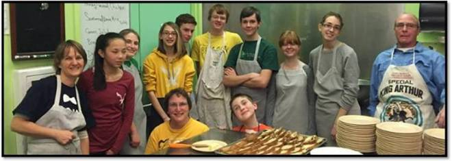 Youth Group serves up at meal at LifeBridge